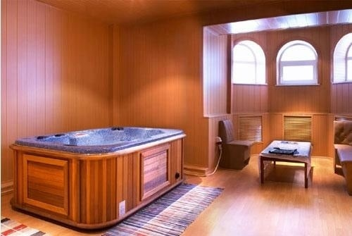 arctic spas hot tub in a room