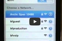A vodeo How to connect Arctic Spas to WiFi network